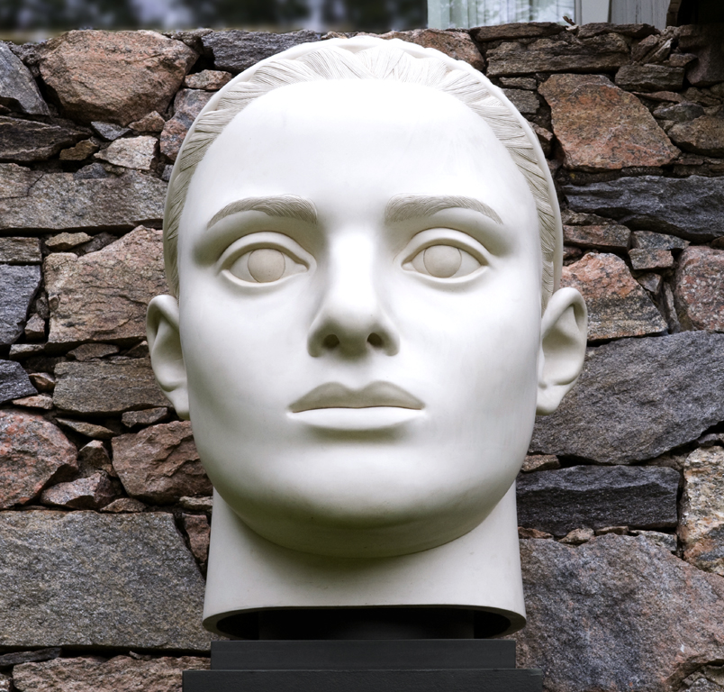 "Lexington Head, 1997, Forton MG, 3' 2"" x 2' 3½"" x 2' 10½"", 450 Lexington Ave., NYC, NY"