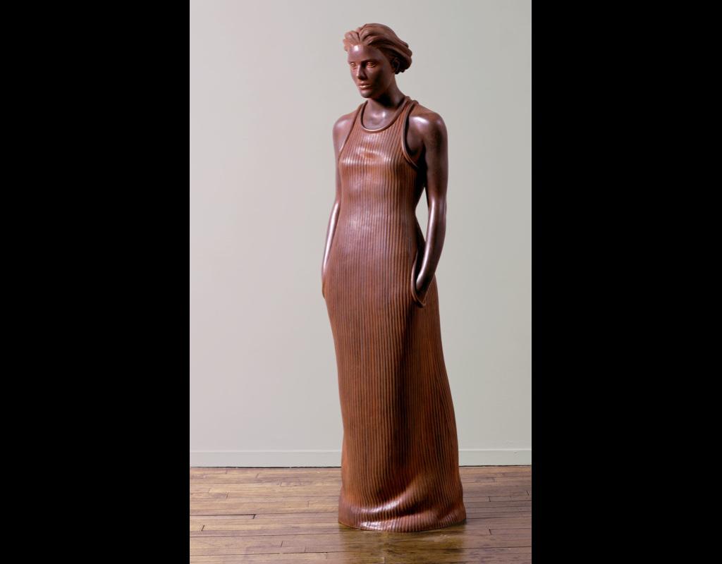 "1 of 14: Figure in Stripes, 2001, Carbon Steel6'5"" x 19"" x 20"""