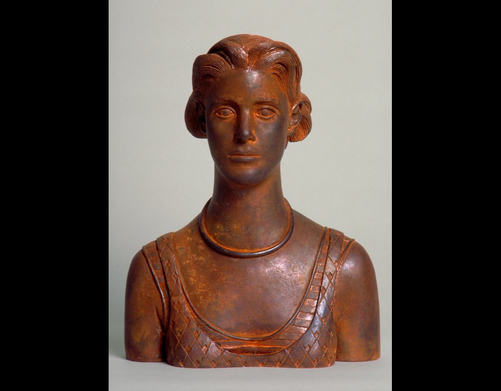 "4 of 14: Bust Urn, 2000, Carbon Steel10½"" x 8½"" x 4½"""