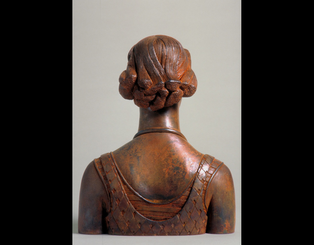 """5 of 14: Bust Urn, 2000, Carbon Steel 10½"""" x 8½"""" x 4½"""""""