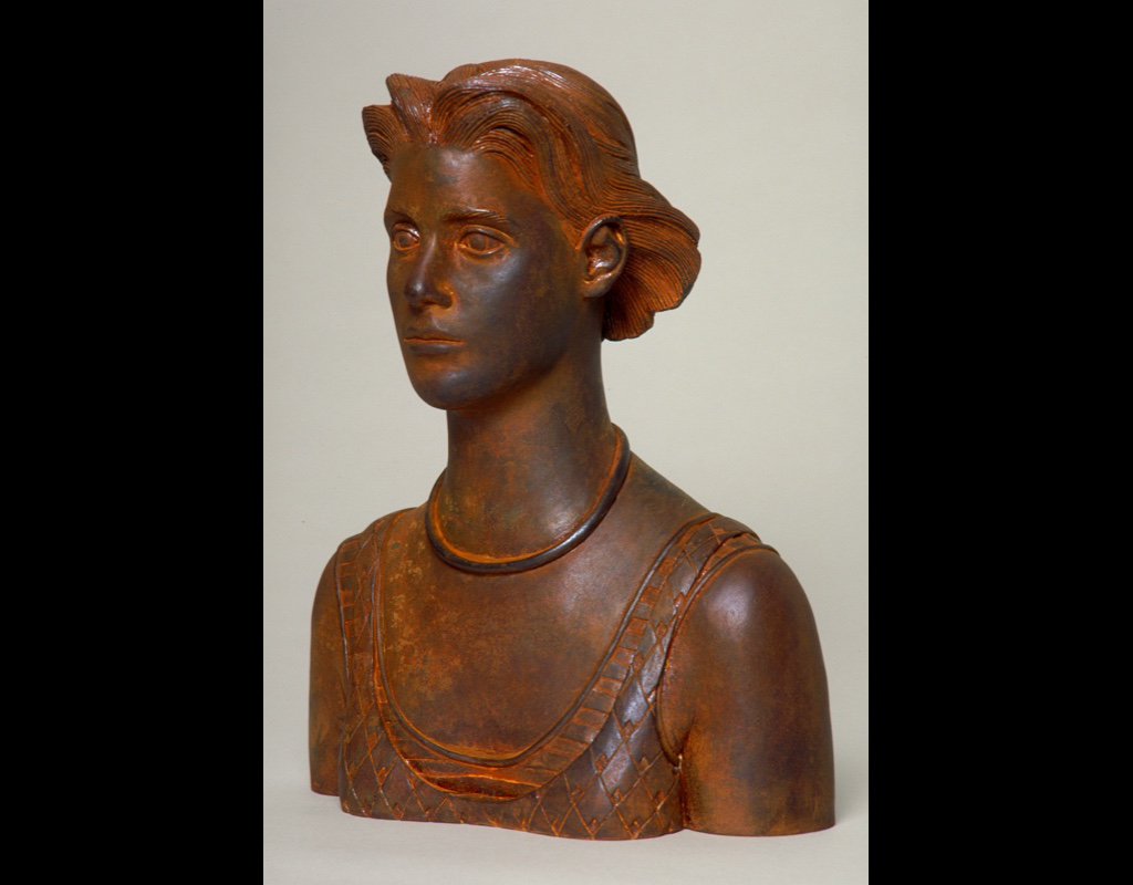 """6 of 14: Bust Urn, 2000, Carbon Steel10½"""" x 8½"""" x 4½"""""""