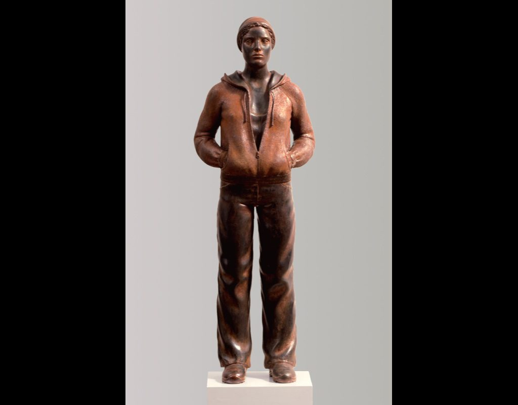 "9 of 14: Figure with Cap, 2004, Carbon Steel4' x 17"" x 10"""