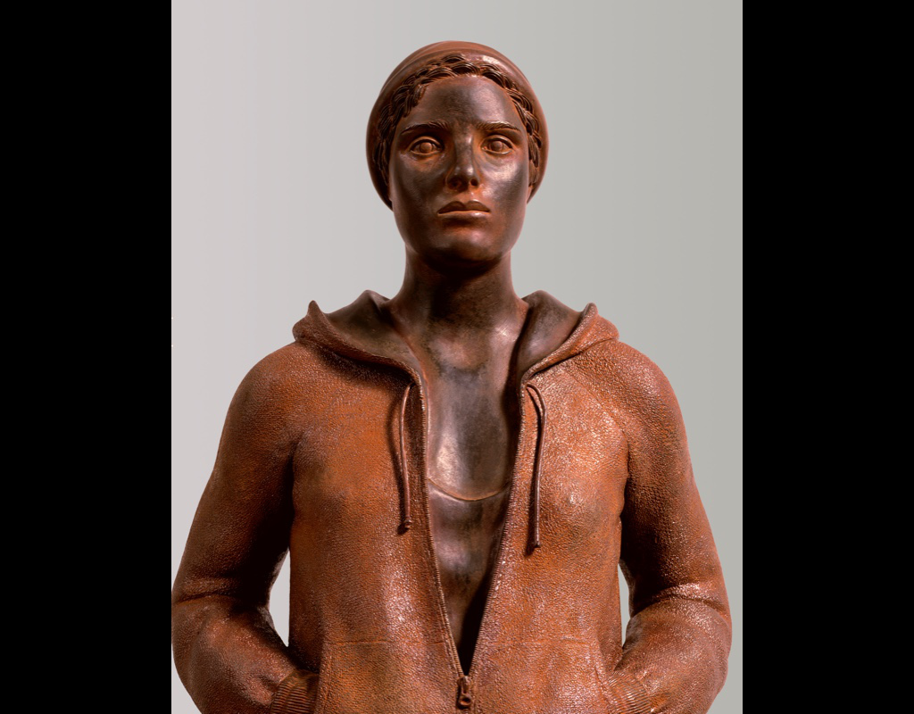 """10 of 14: Figure with Cap, 2004, Carbon Steel4' x 17"""" x 10"""""""