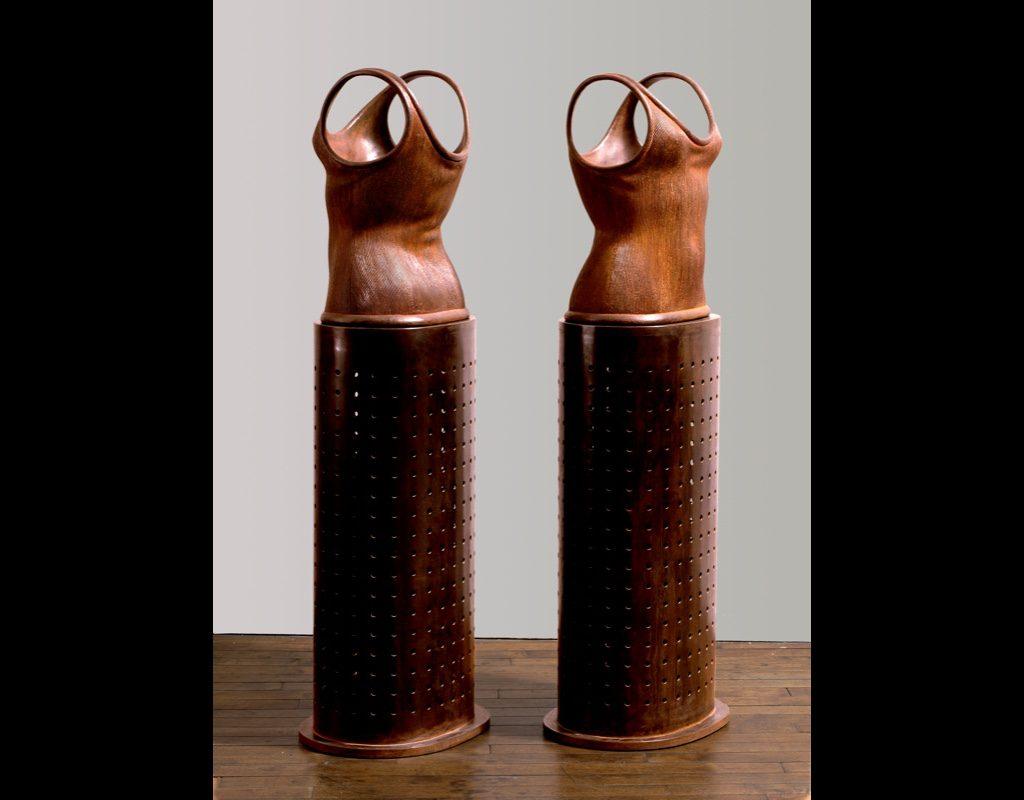 """12 of 14: Twin Torso Vessels, 2000, Carbon Steel22½"""" x 15¾"""" x 13¼"""""""