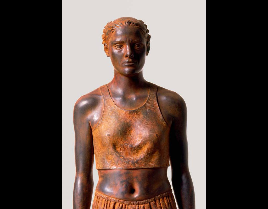 "14 of 14: Athlete, 1995, Carbon Steel6'2"" x 18½"" x 12½"""