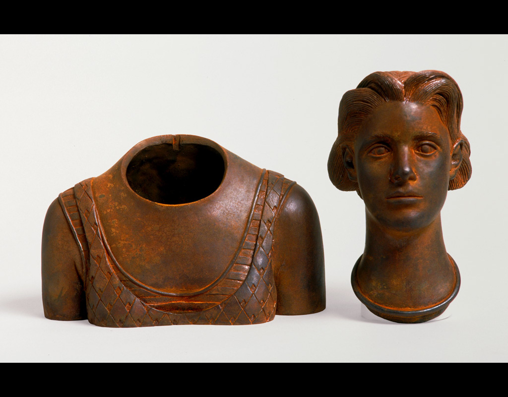 """8 of 14: Bust Urn, 2000, Carbon Steel10½"""" x 8½"""" x 4½"""""""
