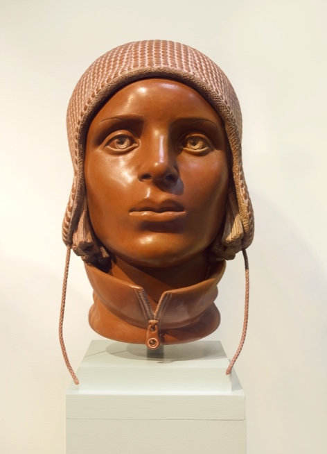 "1 of 21: Terra Cotta Head, 2012, Forton MG, 12½"" x 8"" x 9½"""