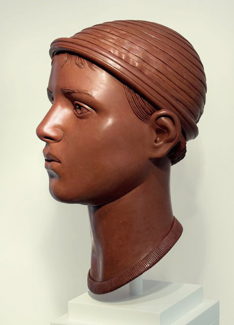 "13 of 21: Red Head with Cap, 2011, Forton MG, 15"" x 8"" x 9¼"""