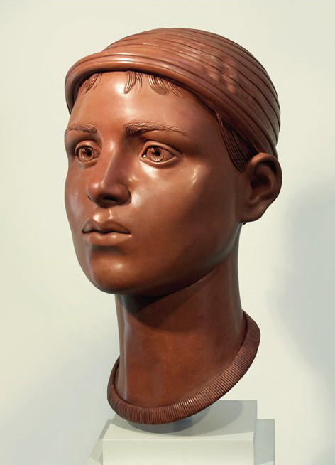 "12 of 21: Red Head with Cap, 2011, Forton MG, 15"" x 8"" x 9¼"""