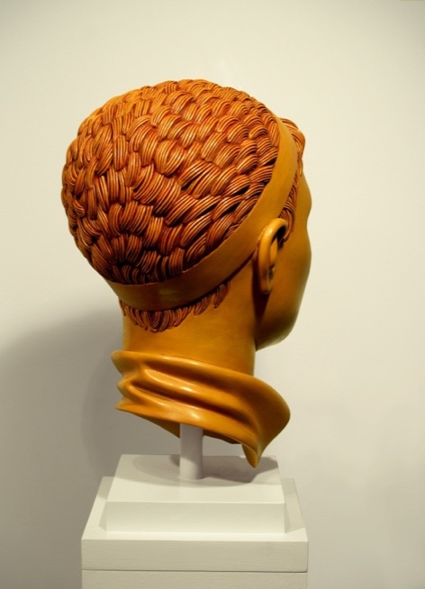 "17 of 21: Yellow Head with Band, 2010, Forton MG, 13"" x 7½"" x 9¼"""