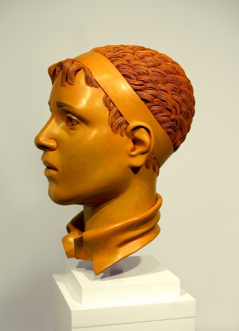 "16 of 21: Yellow Head with Band, 2010, Forton MG, 13"" x 7½"" x 9¼"""