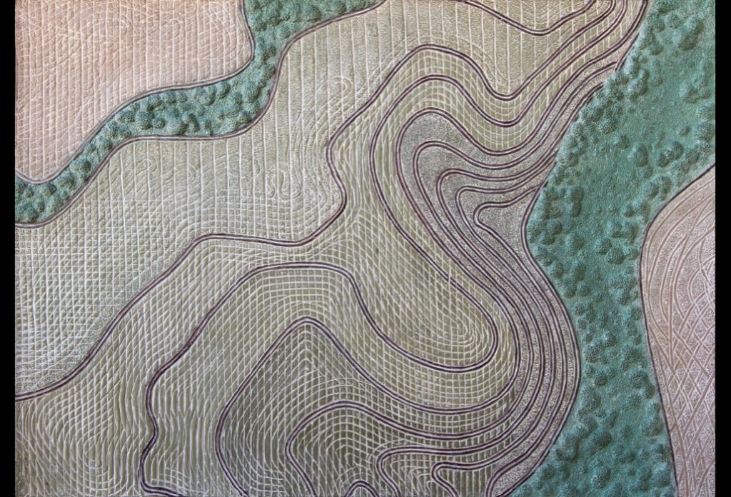 "20 of 32: Fields and Forests, 2016, Forton MG, 11"" x 15"" x ¼""Click to enlarge"