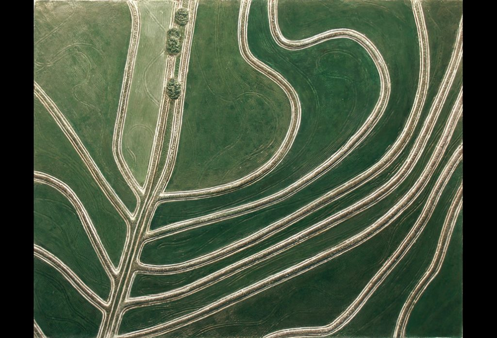 "16 of 23: Leaf or Land, 2013, Forton MG, 11"" x 14¾"" x ¼""Click to enlarge"