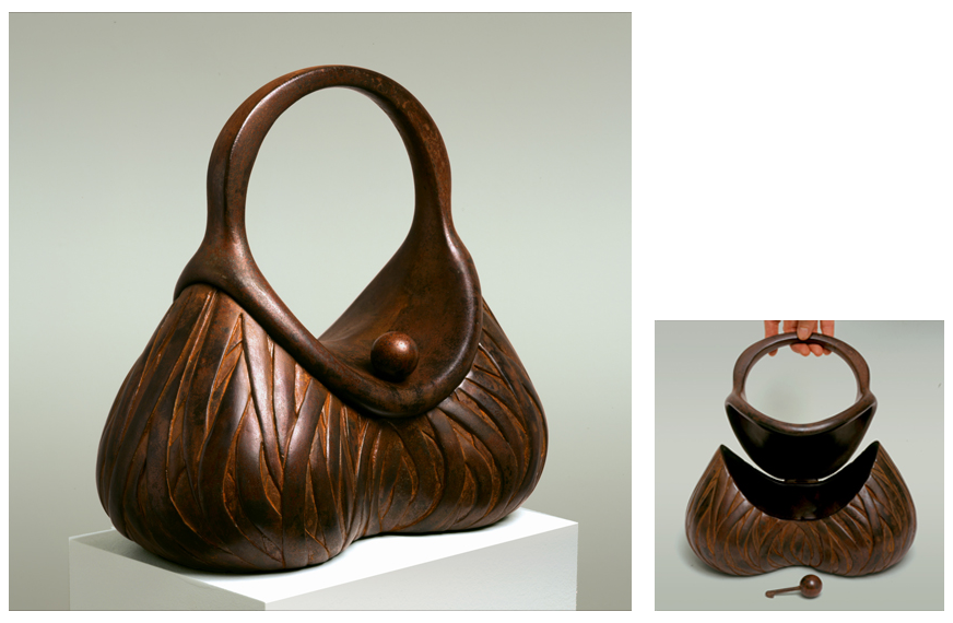 "1 of 8: Banded Purse, 2002, Carbon Steel, 9¾"" x 11"" x 5½"""