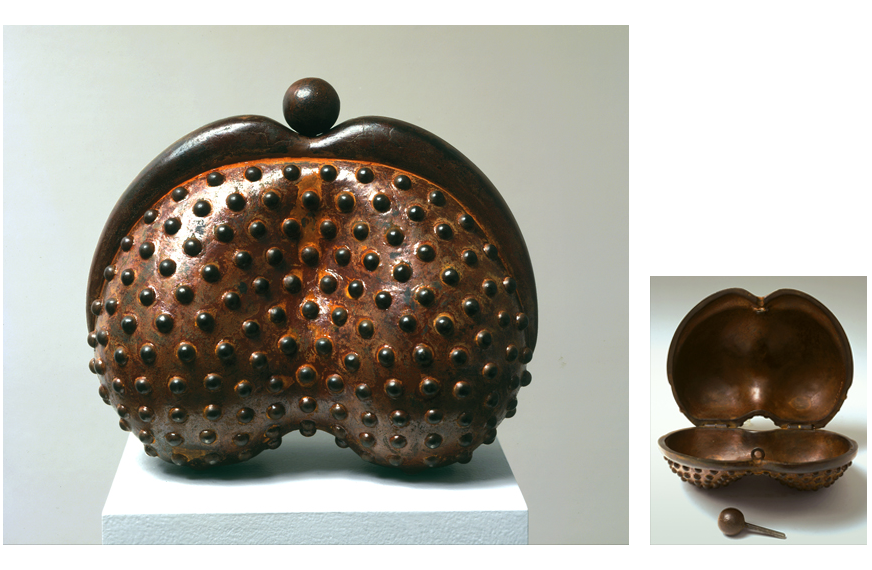 "2 of 8: Bumpy Purse, 2002, Carbon Steel, 7"" x 8"" x 4"""
