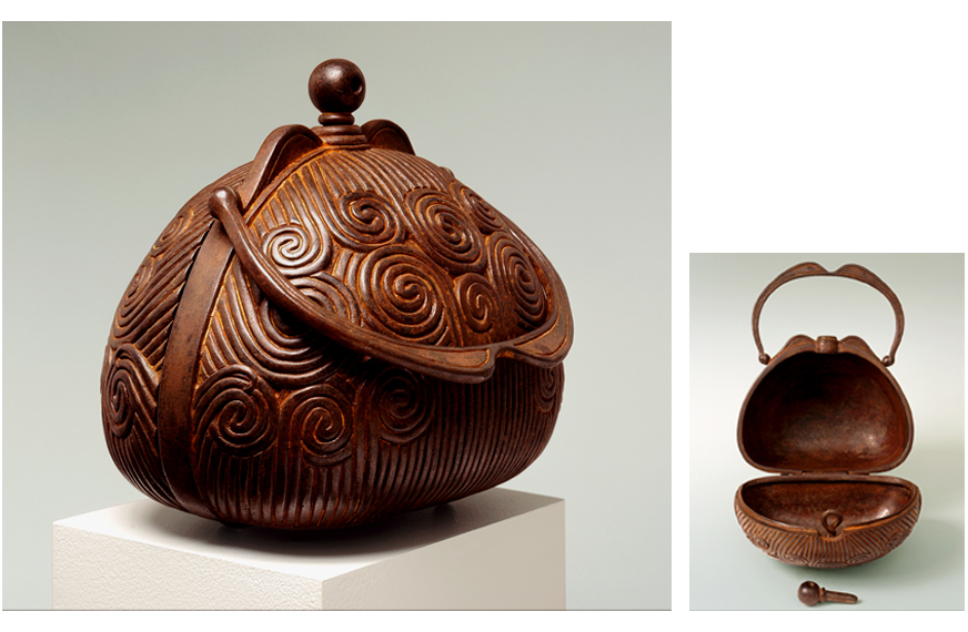 "3 of 8: Spiral Purse, 2001, Carbon Steel, 8¾"" x 8¾"" x 7½"""