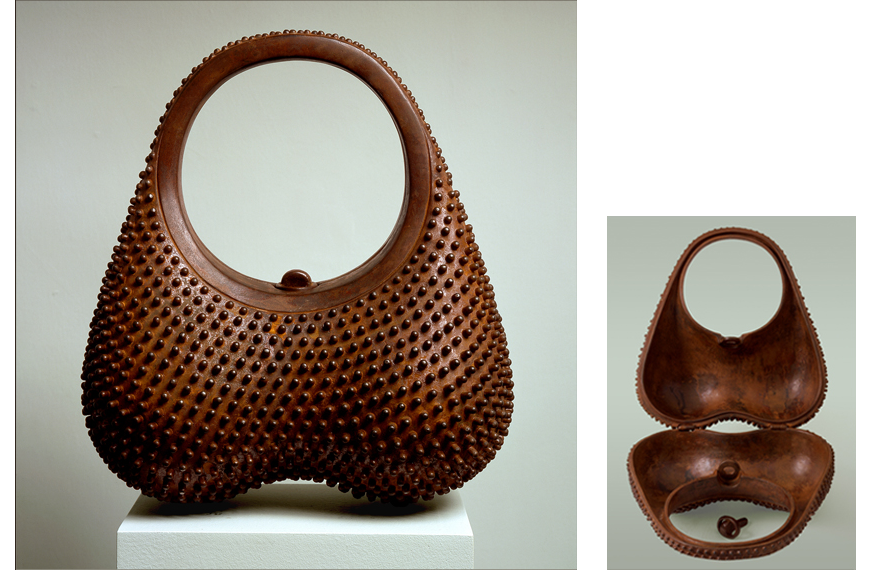 "8 of 8: Prickly Purse, 2001, Carbon Steel, 13"" x 11"" x 7"""