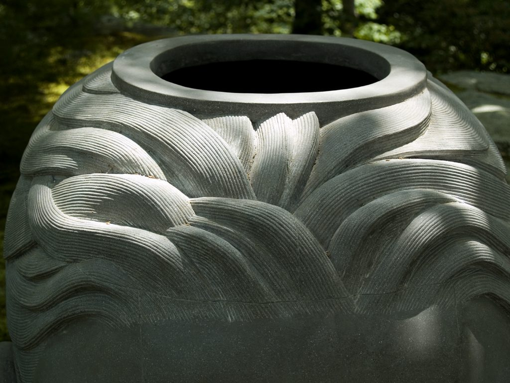 "4 of 4: Headroom, 2000, GFRC Concrete, 46"" x 32"" x 42"", Silvermine Arts Center, New Canaan, CT"