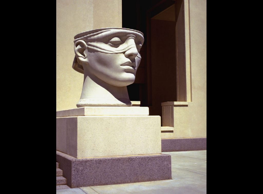 "4 of 4: Urns of Justice, 2000, GFRC Concrete, 5'5"" x 5'8"" x 6'John M. Shaw Federal Courthouse, Lafayette, LA"