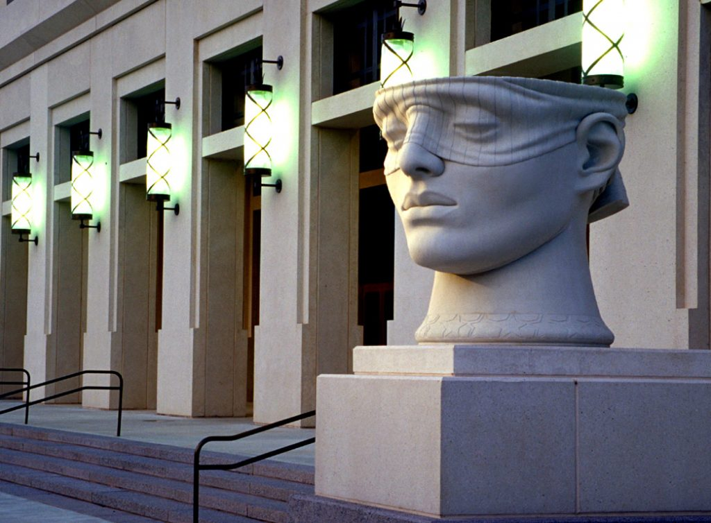 "3 of 4: Urns of Justice, 2000, GFRC Concrete, 5'5"" x 5'8"" x 6'John M. Shaw Federal Courthouse, Lafayette, LA"